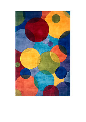 """New Wave Circles Multi Area Rug 26"""" x 8"""