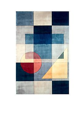 "New Wave Geometric Blue Area Rug 26"" x 8"