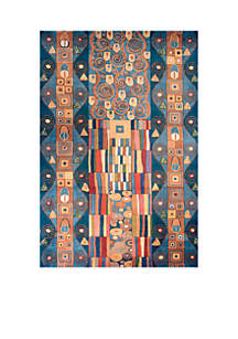 New Wave Deco Blue Area Rug 3'6\