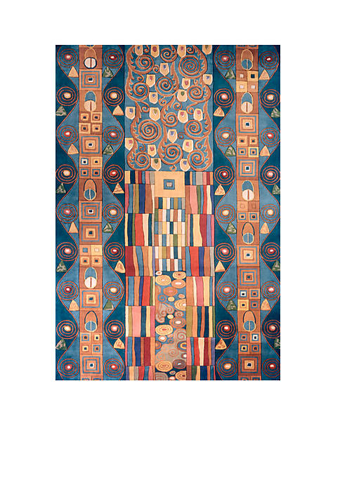 """New Wave Deco Blue Area Rug 26"""" x 12"""