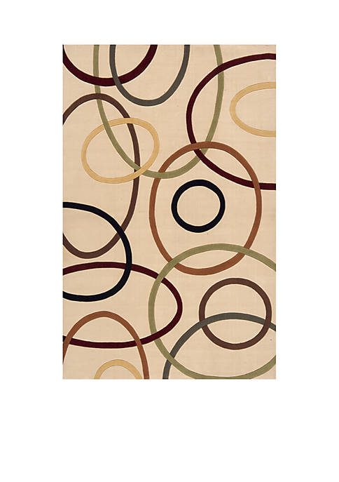 Elements Ovals Ivory Area Rug 2 x 3