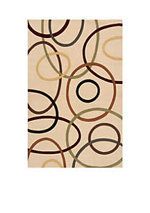 Elements Ovals Ivory Area Rug 3' x 5'