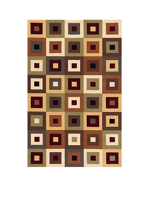 Momeni Elements Squares Multi Area Rug 5 x