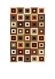 Elements Squares Multi Area Rug 5' x 8'