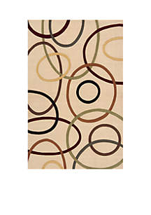 Elements Ovals Ivory Area Rug 5' x 8'
