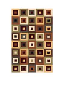 Elements Squares Multi Area Rug