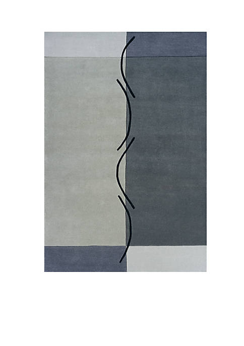 Momeni Delhi Block Gray Area Rug 5 x
