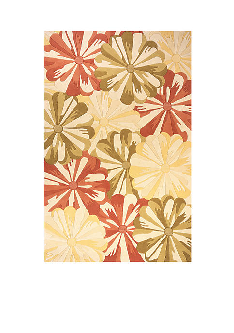 Momeni Delhi Blooms Gold Area Rug 5 x