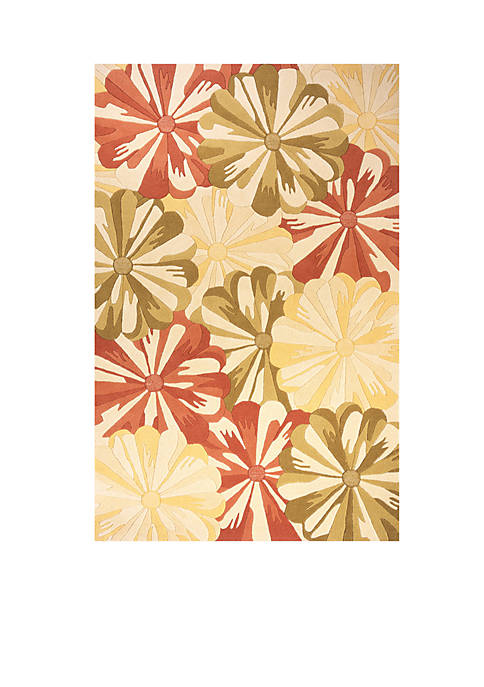 "Momeni Delhi Blooms Gold Area Rug 23"" x"