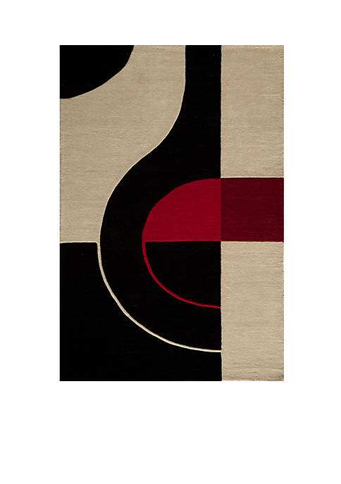 "Momeni Delhi Oval Black Area Rug 23"" x"