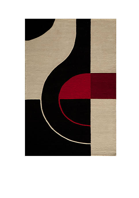 Momeni Delhi Oval Black Area Rug 5 x