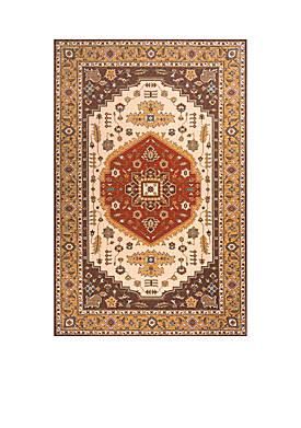 """Persian Garden Fields Cocoa Area Rug 26"""" x 8"""
