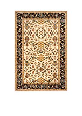 Persian Garden Apshodel Charcoal Area Rug 3 x 5