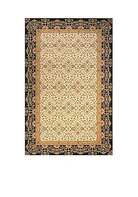 Persian Garden Woven Charcoal Rug 5 x 8