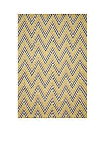 Momeni Geo Waves Gold Area Rug