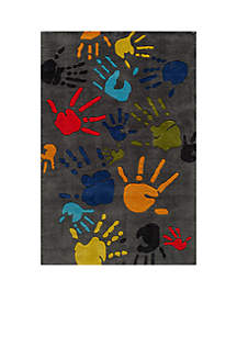 Momeni Lil Mo Finger Paint Charcoal Area Rug