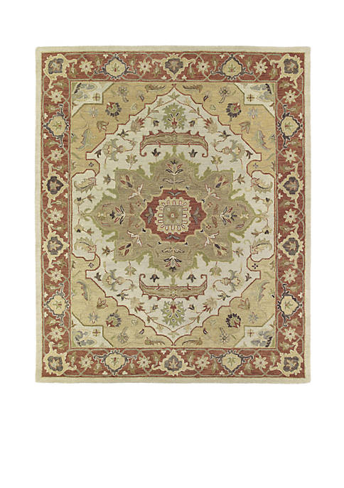 "Kaleen Solomon Gold Area Rug 26"" x 8"