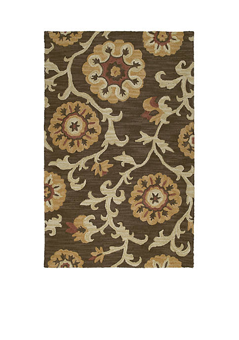 Kaleen Carriage Brown Area Rug 2 X 5