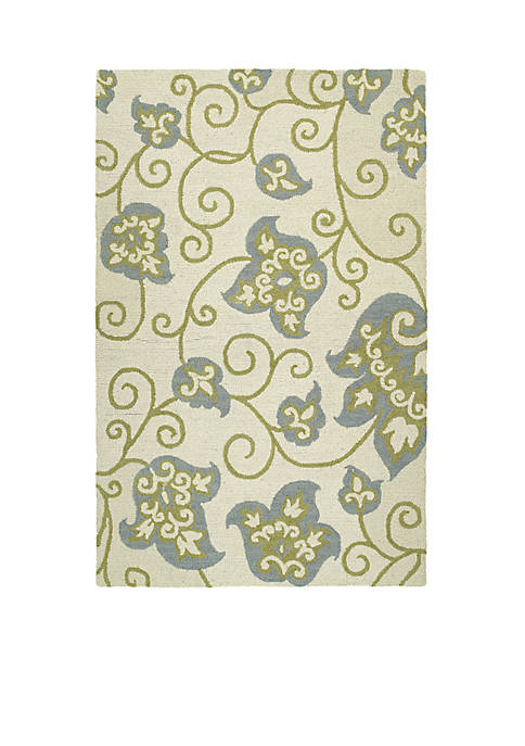 Kaleen Carriage Ivory Area Rug 2 X 5