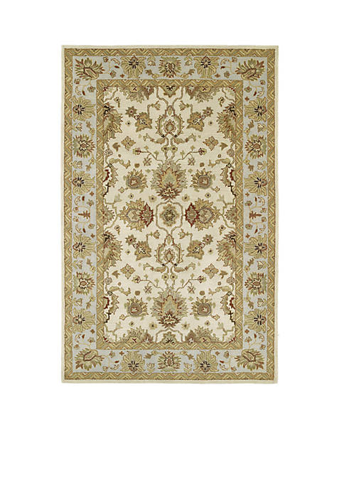 "Kaleen Heirloom Ivory Area Rug 26"" x 10"