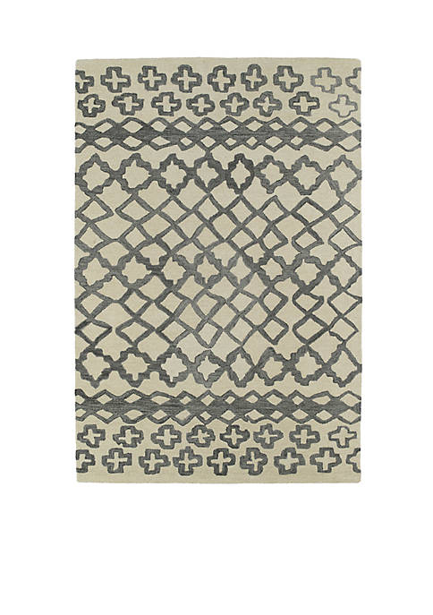 Kaleen Casablanca Grey Area Rug 4 x 6