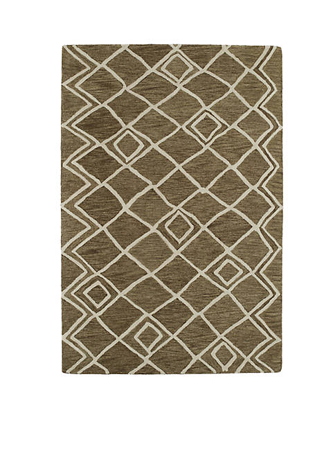 Kaleen Casablanca Brown Area Rug 4 x 6