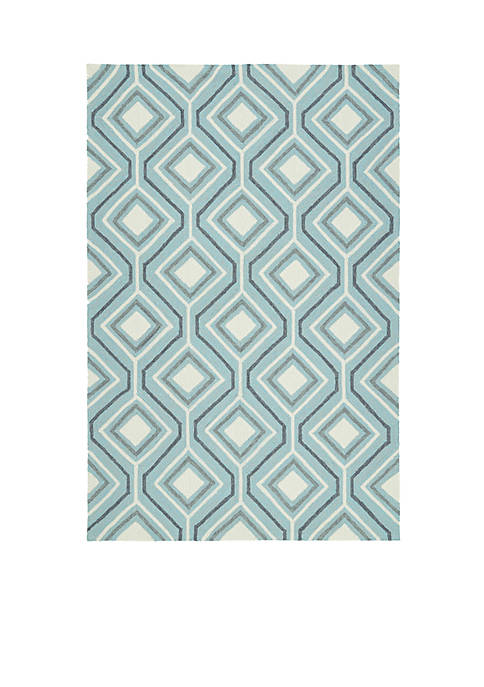 Kaleen Escape Blue Area Rug 4 x 6