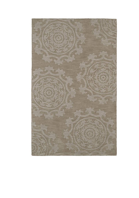 Kaleen Imprints Classic Light Brown Area Rug 36""