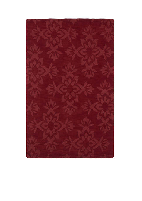"Kaleen Imprints Classic Red Area Rug 56"" x"