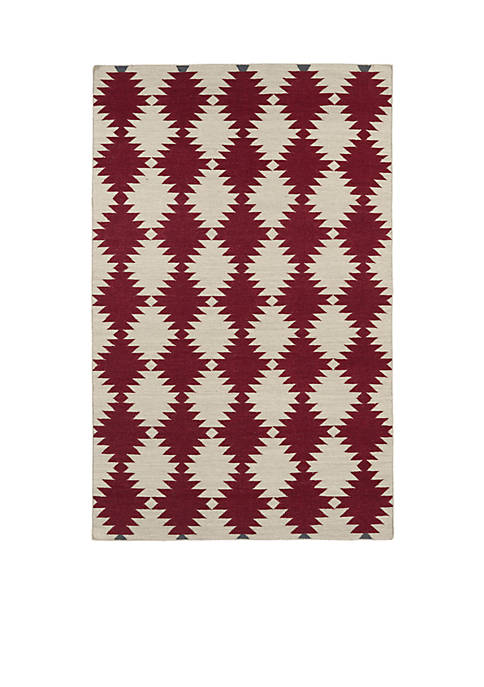 "Kaleen Nomad Red Area Rug 26"" x 8"