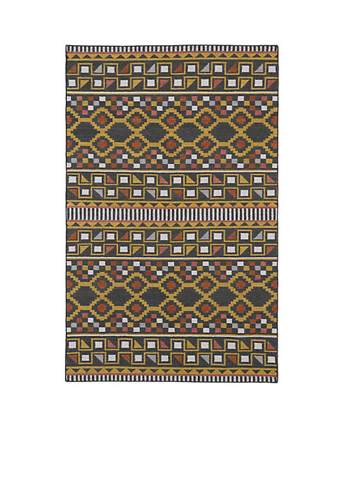 "Kaleen Nomad Charcoal Area Rug 26"" x 8"
