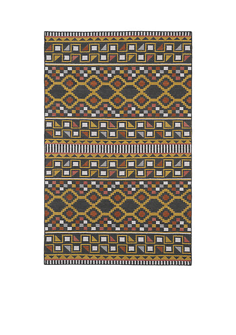 "Kaleen Nomad Charcoal Area Rug 36"" x 56"""