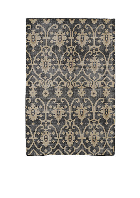 Kaleen Restoration Black Area Rug