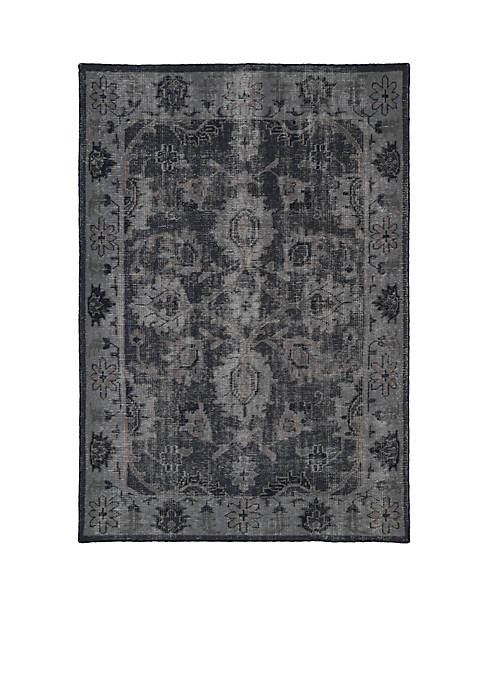 Kaleen Restoration Black Area Rug 4 x 6