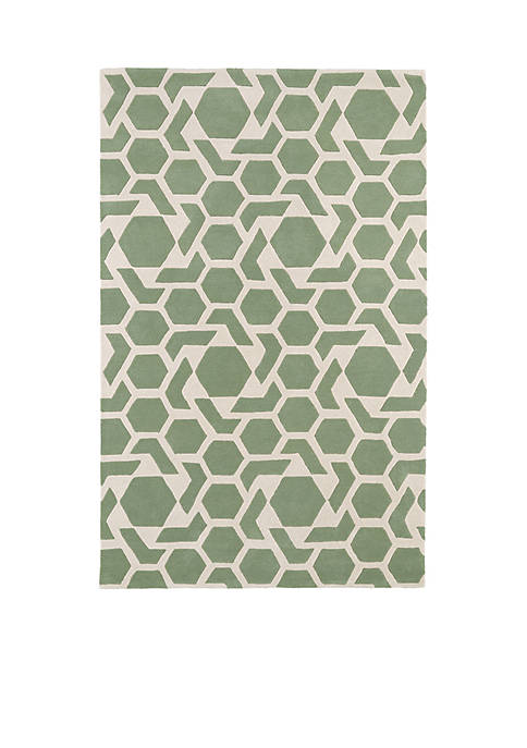"Kaleen Revolution Mint Area Rug 23"" x 76"""