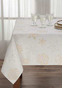 Falling Snow Tablecloth