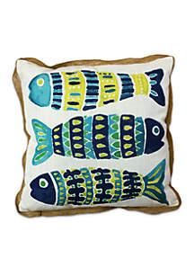 Mosaic Fish Decorative Pillow