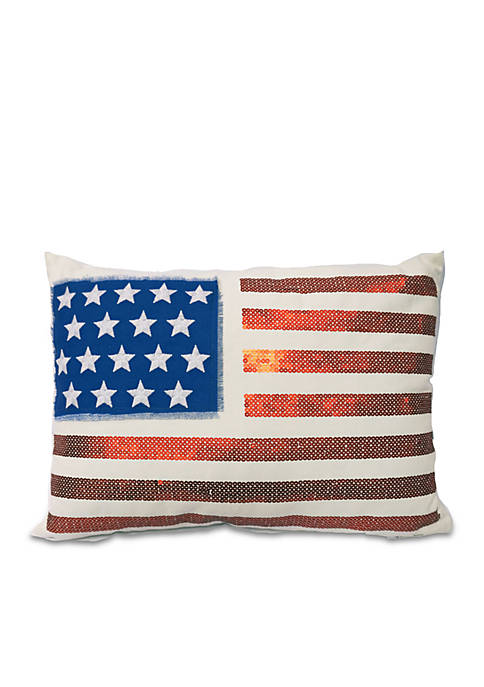 Arlee Home Fashions Inc.™ American Flag Decorative Pillow