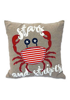Arlee Home Fashions Inc.™ Stars and Crab Burlap Decorative Pillow