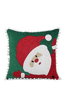 Santa Pom Pom Throw Pillow