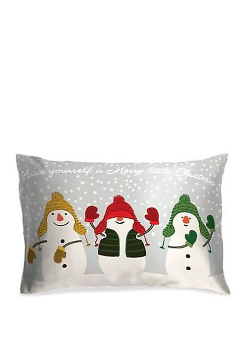 Snowmen Oblong Throw Pillow