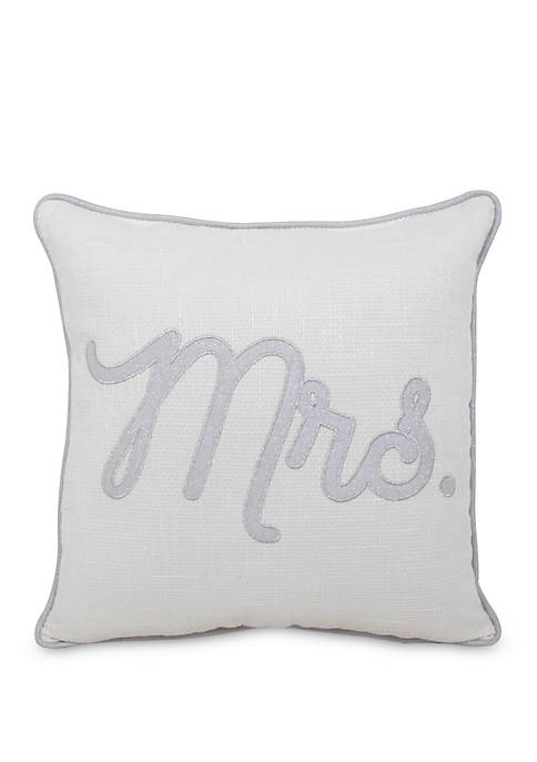 Arlee Home Fashions Inc.™ Mrs. Throw Pillow