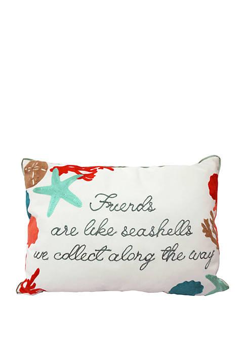 Arlee Home Fashions Inc.™ Friends are Like Seashells