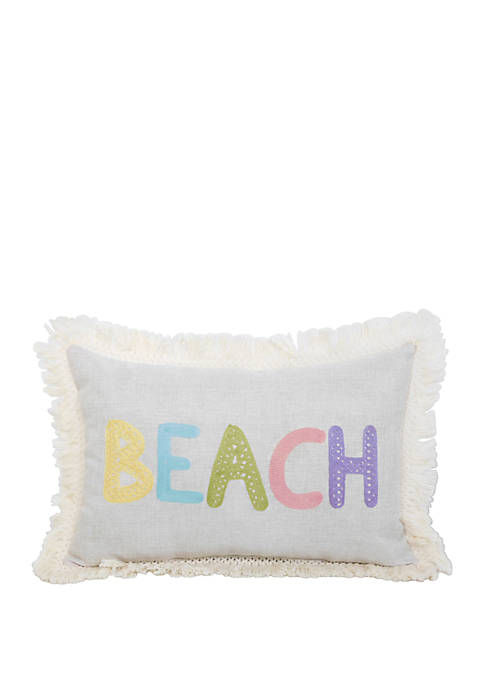 Arlee Home Fashions Inc.™ Beach Embroidered Fringe Throw