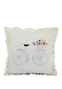 Arlee Home Fashions Inc.™ Bicycle Decorative Pillow