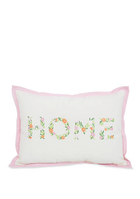 Arlee Home Fashions Inc.™ Decorative Floral Wording Pillow