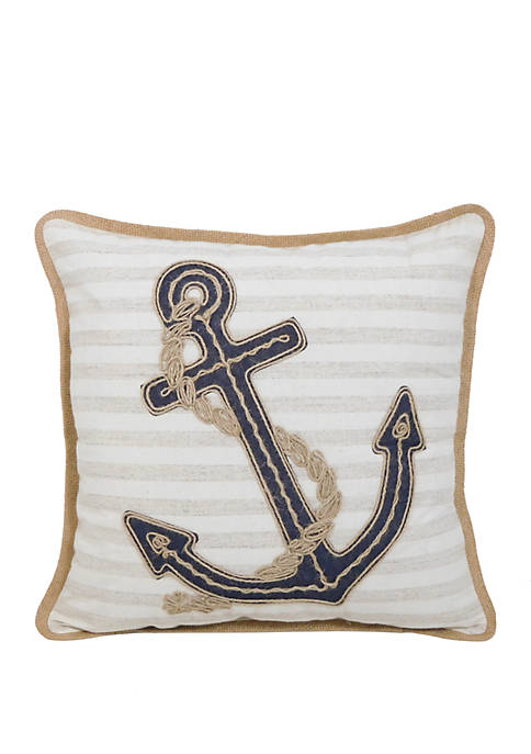 Arlee Home Fashions Inc.™ Rope Anchor Throw Pillow