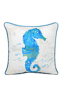 Arlee Home Fashions Inc.™ Painted Seahorse Throw Pillow
