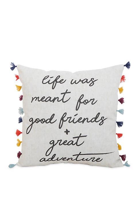 Arlee Home Fashions Inc.™ Great Adventure Throw Pillow