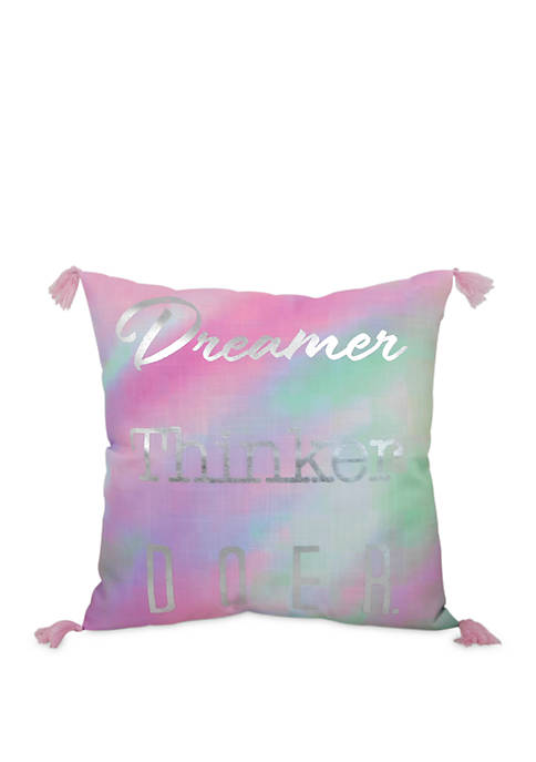Iridescence Silver Throw Pillow
